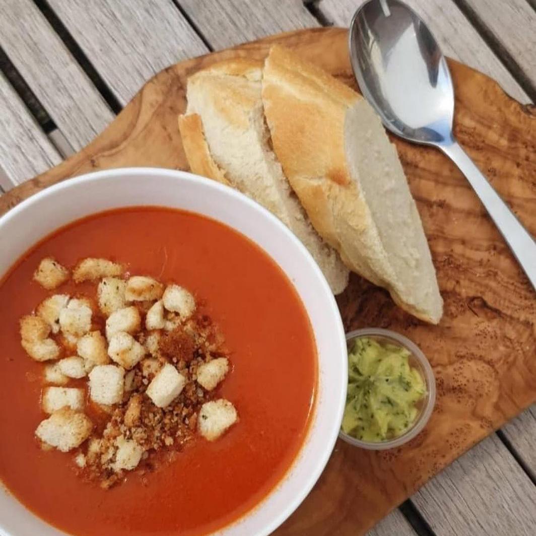 Tomatensoep - Eetcafé de Potdeksel